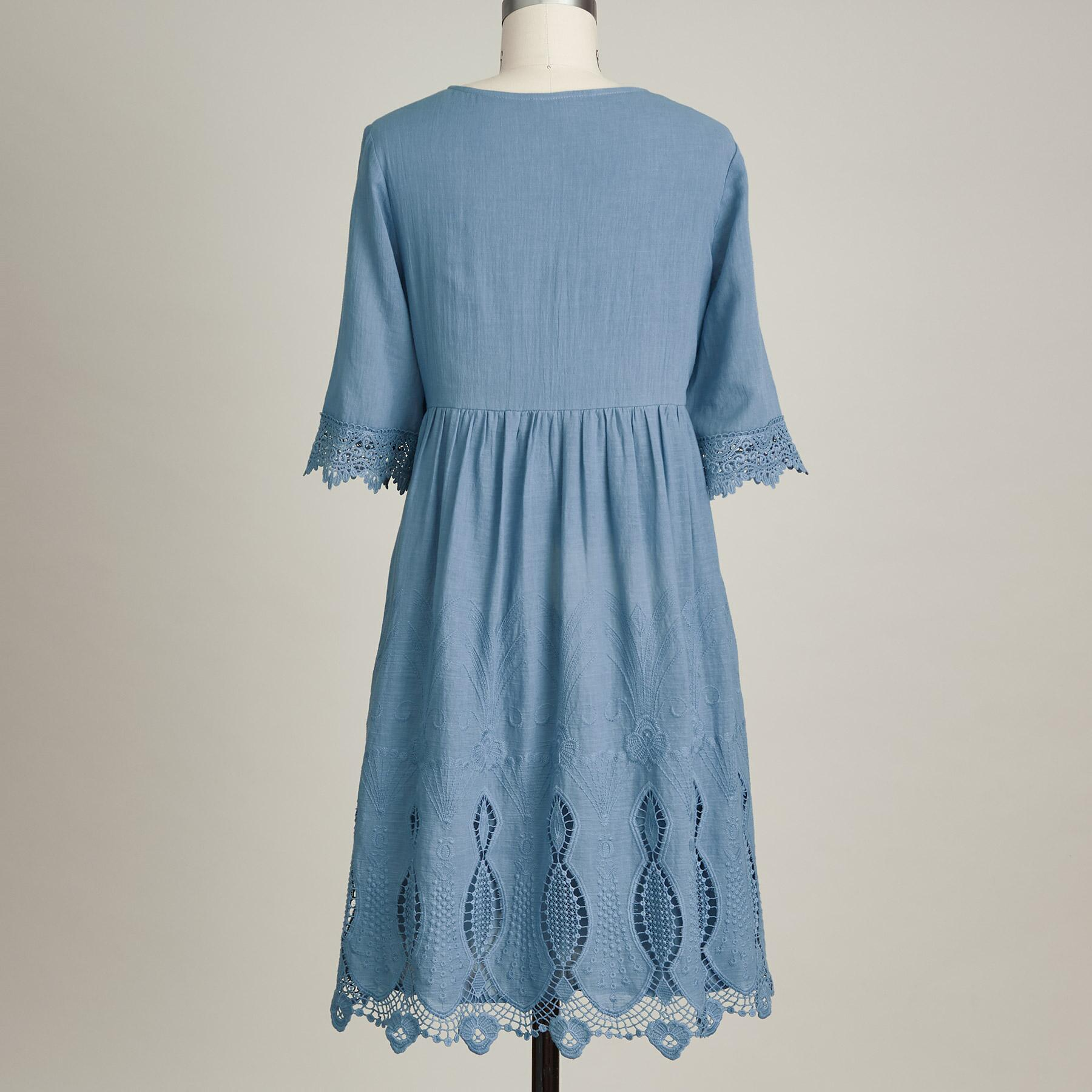 NAHLA EMBROIDERED DRESS: View 3