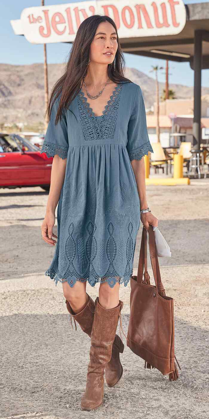 NAHLA EMBROIDERED DRESS