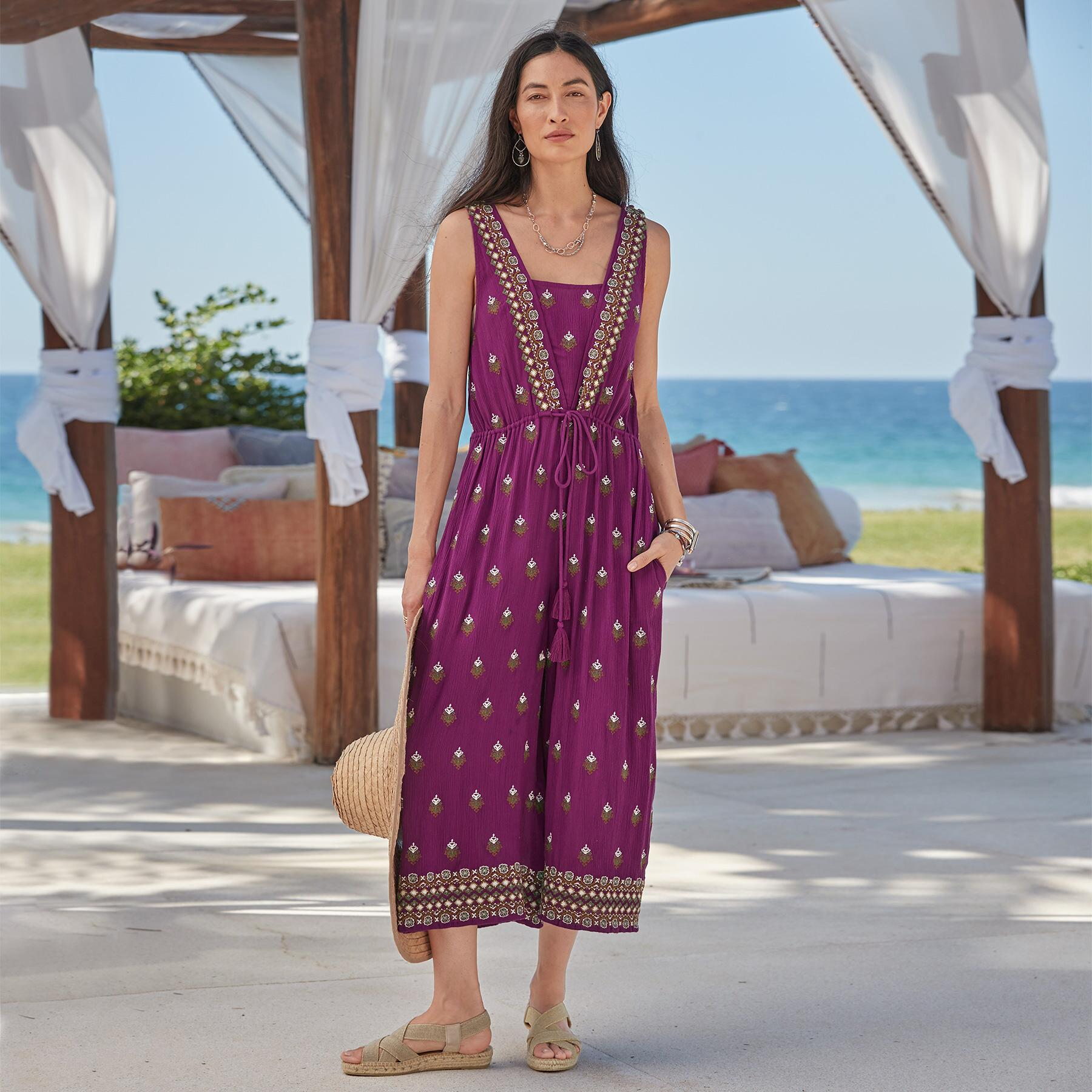 AMIRA EMBROIDERED JUMPSUIT PETITE: View 2
