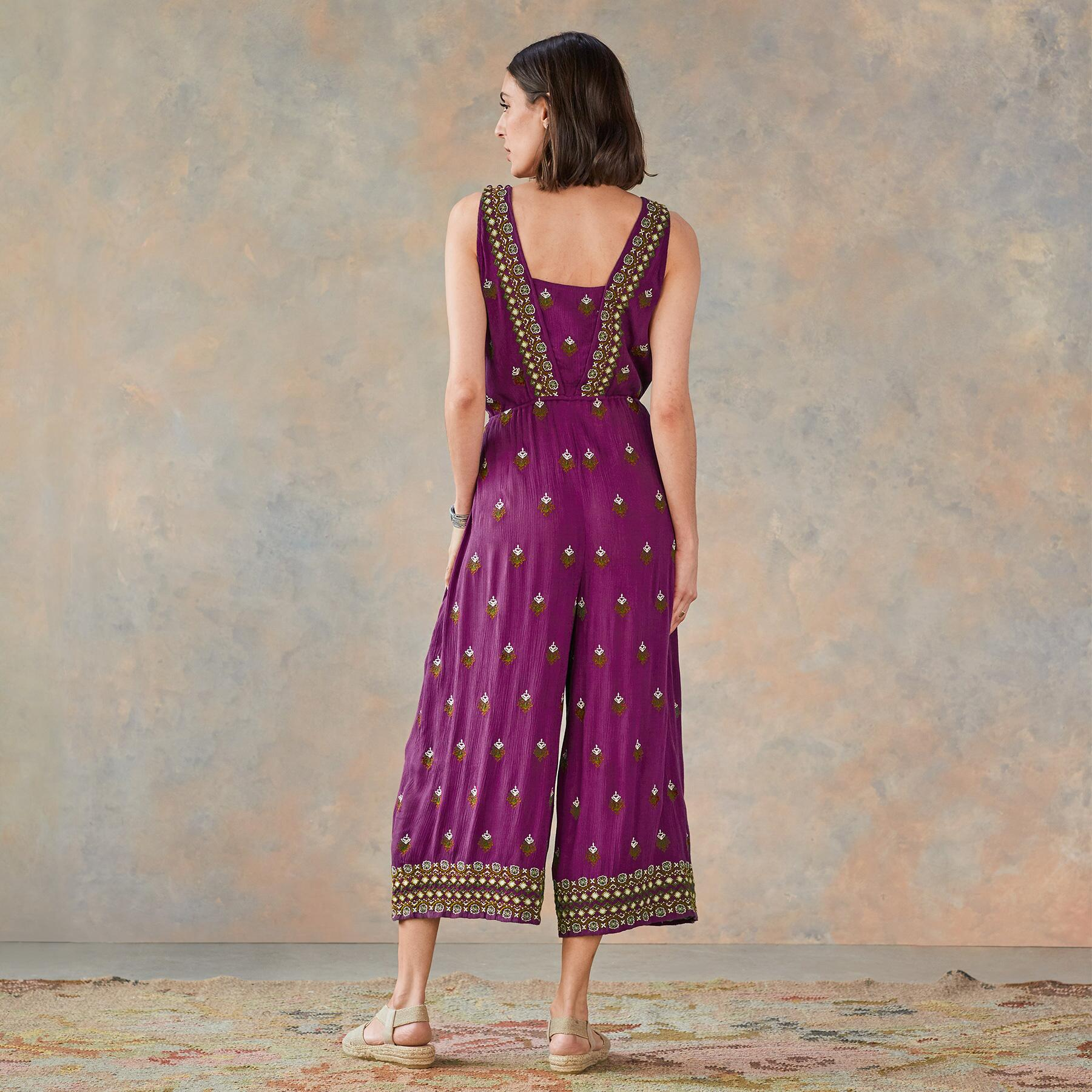 AMIRA EMBROIDERED JUMPSUIT PETITE: View 3