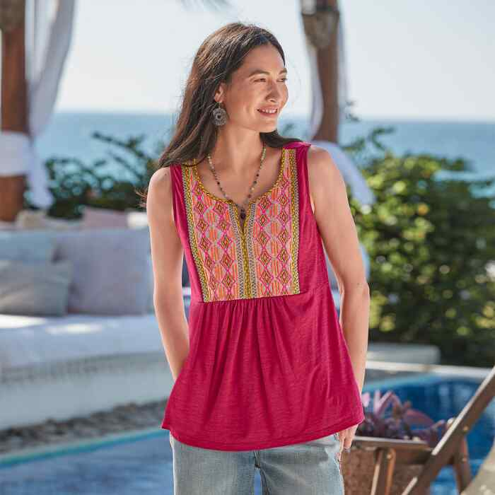 CHARLENE EMBROIDERED TOP