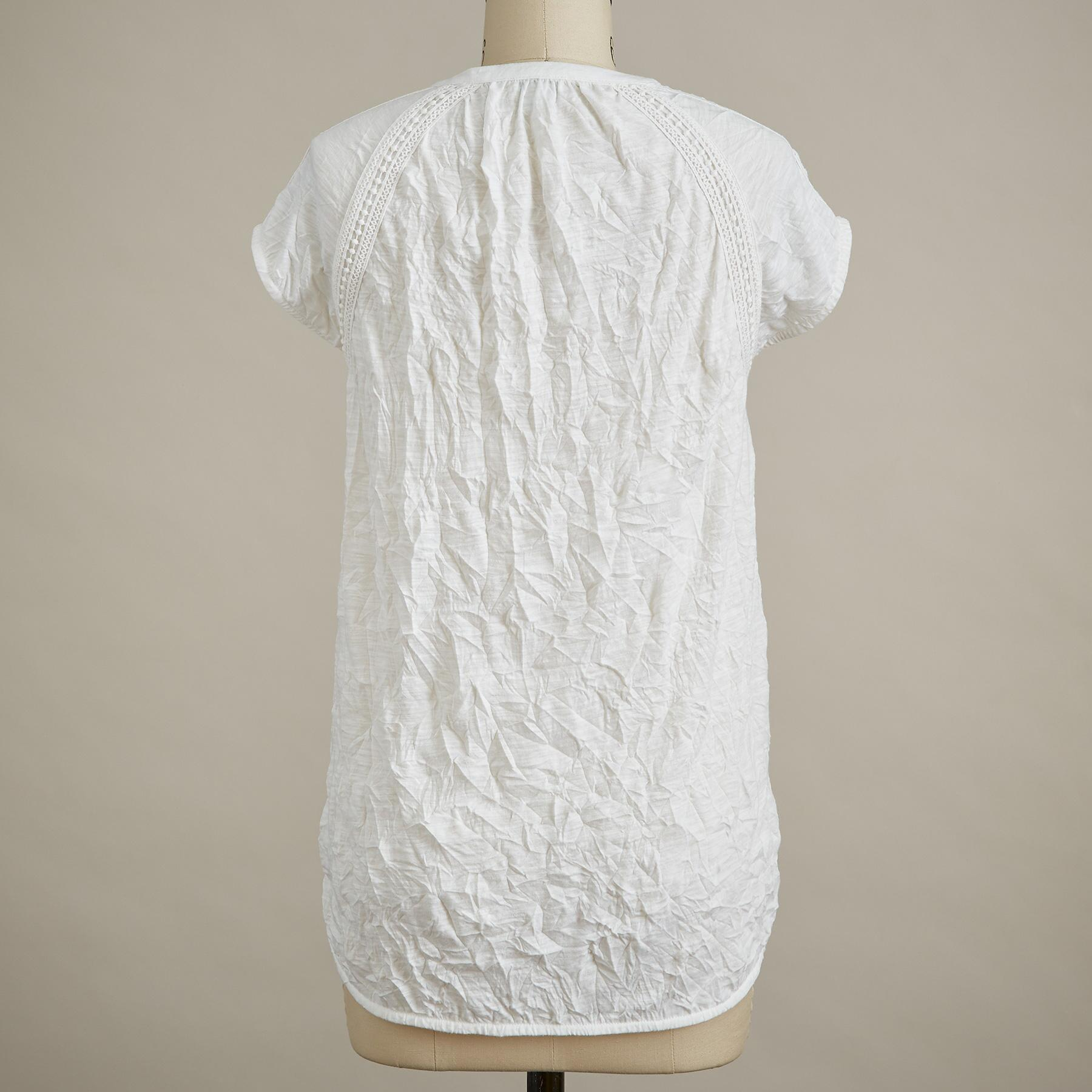 ROMANCE TEXTURED SHORT-SLEEVE TEE - PETITE: View 3