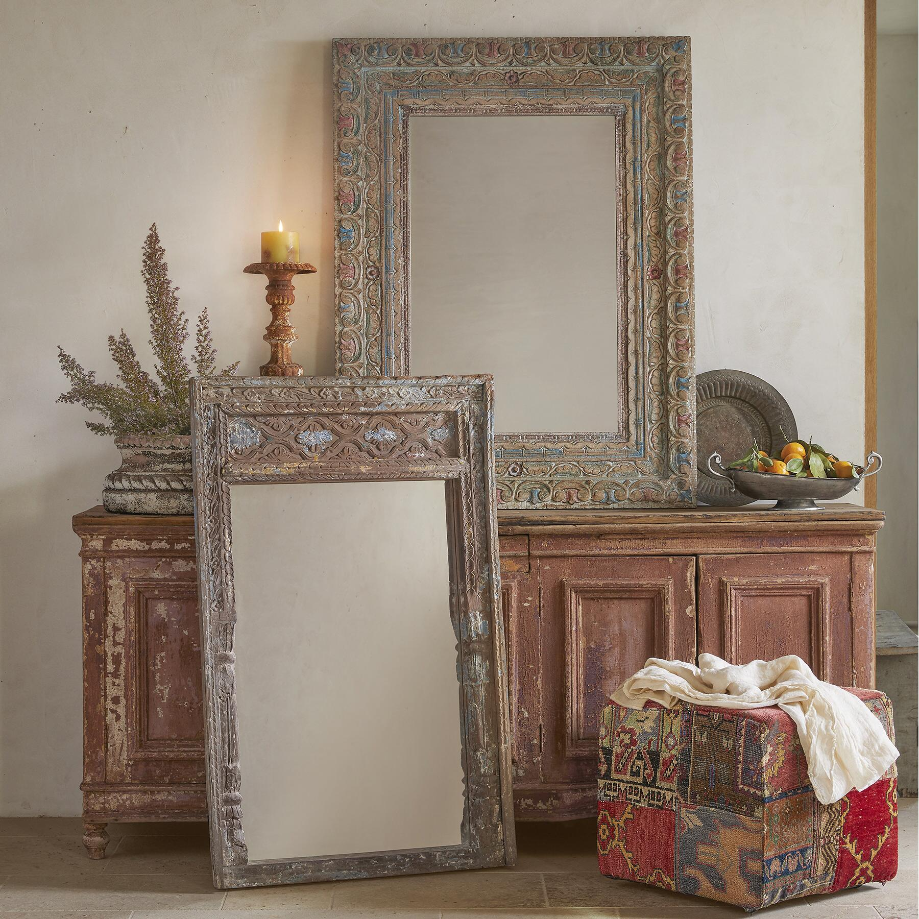JAIPUR ACACIA WOOD MIRROR: View 2