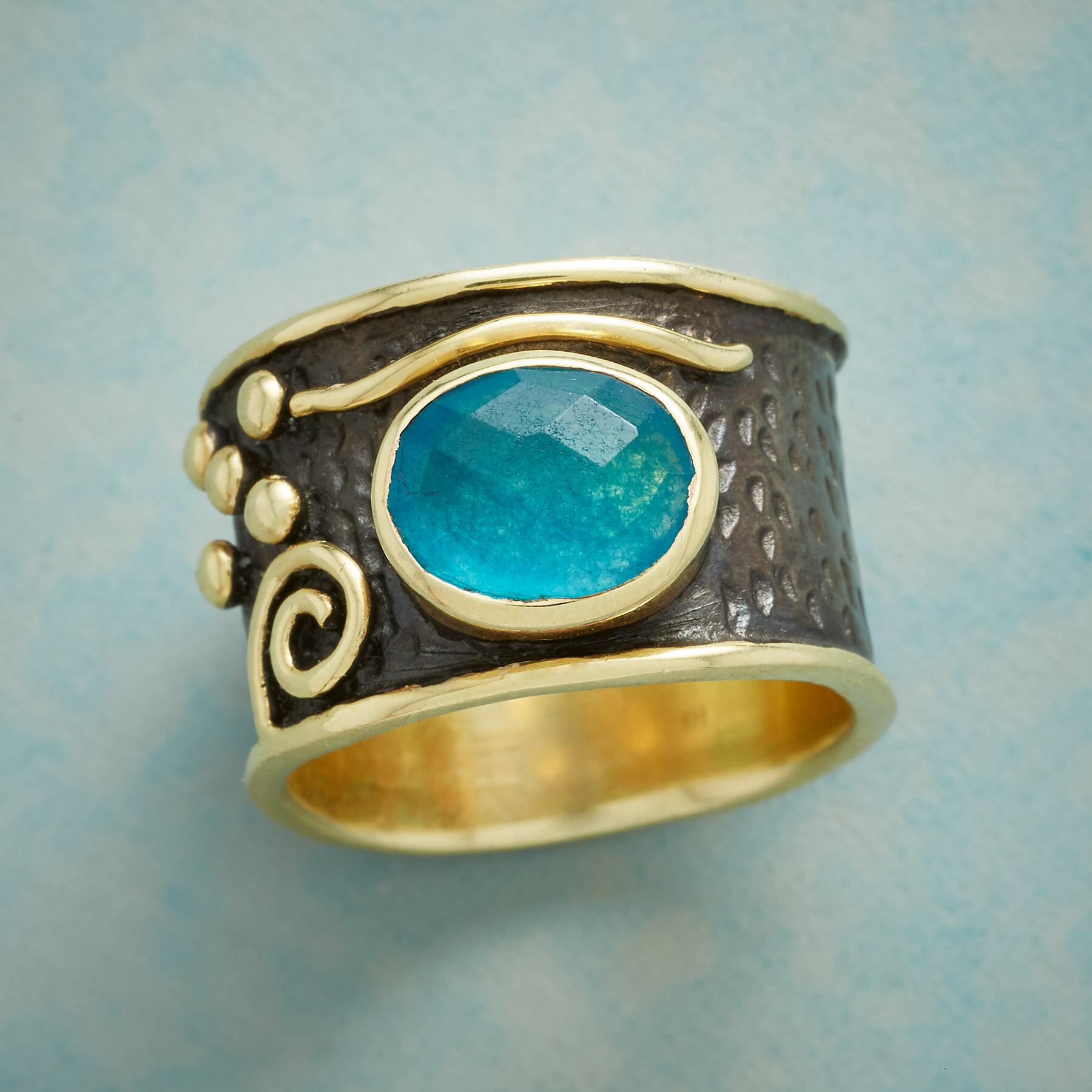 BLUE ABSTRACTION RING: View 1