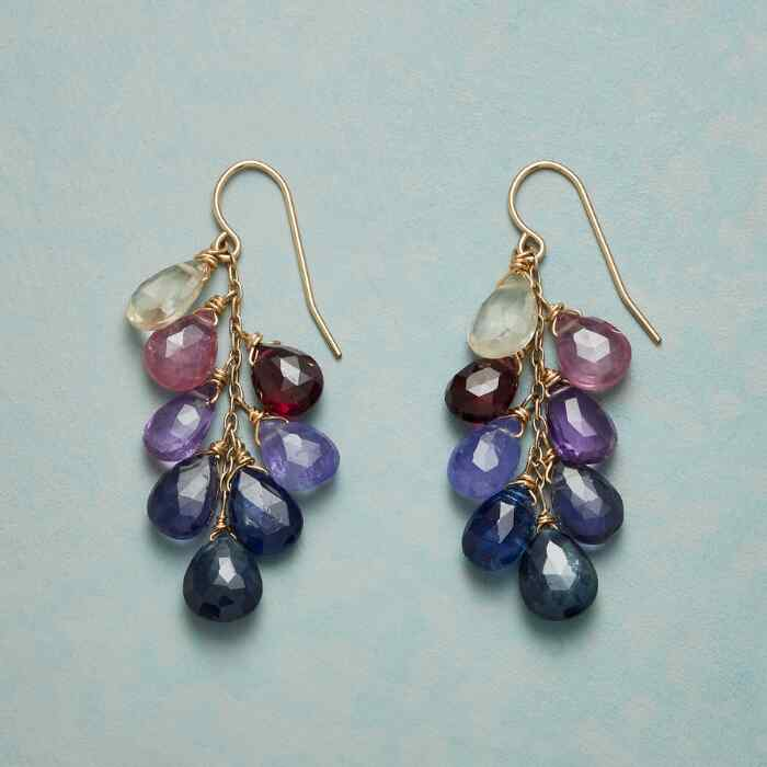 ROSES & VIOLETS EARRINGS