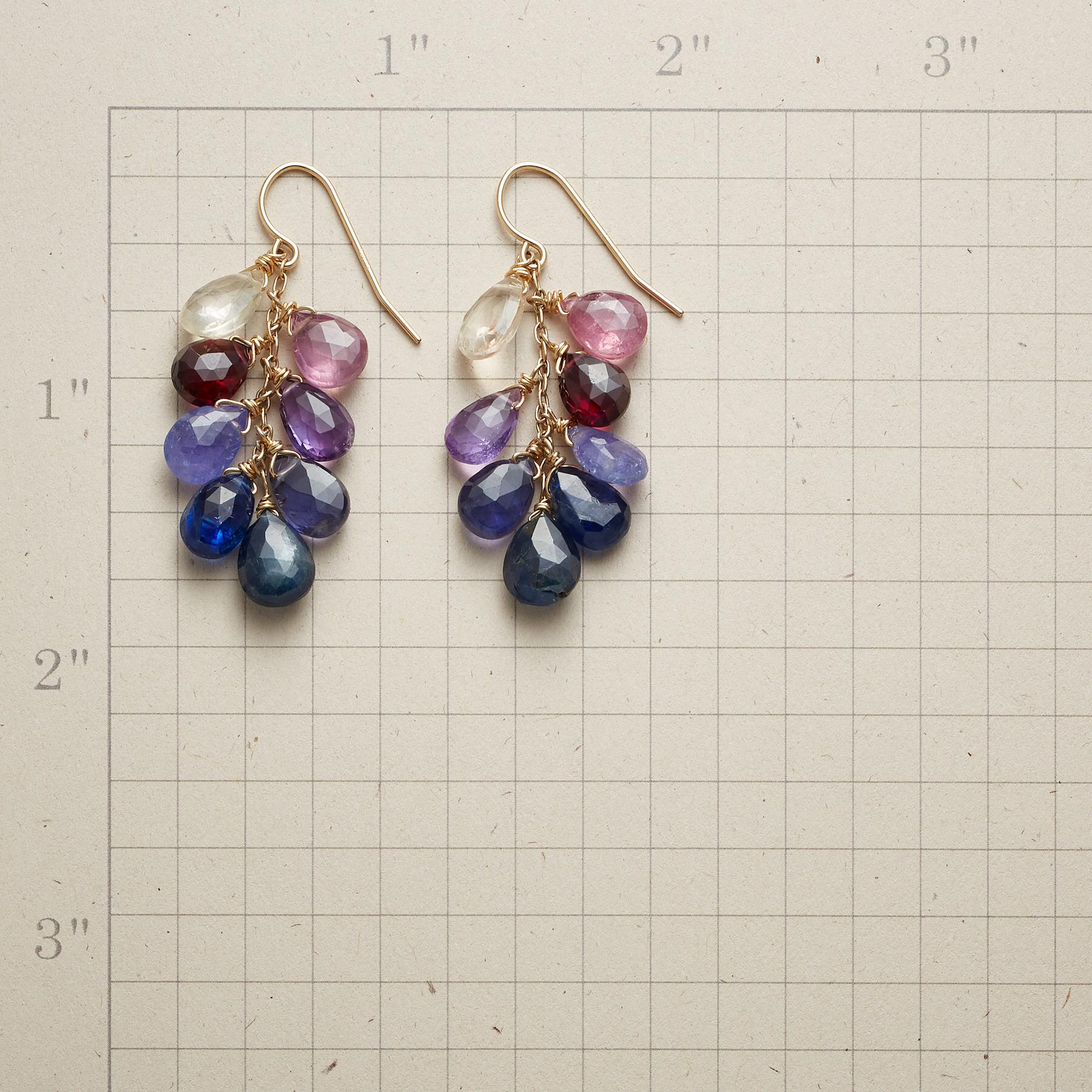 ROSES & VIOLETS EARRINGS: View 2