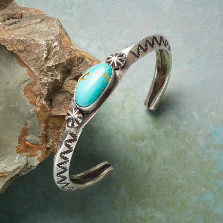 MEN'S COURAGE TURQUOISE CUFF