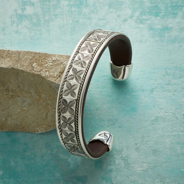 MEN'S LUCK & FORTUNE STERLING CUFF