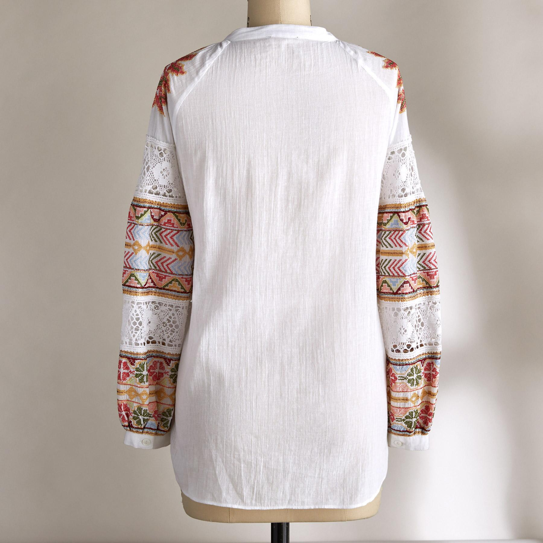GABRIELLA EMBROIDERED TOP: View 3