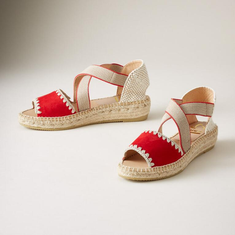 ADA STITCH ESPADRILLE SANDALS