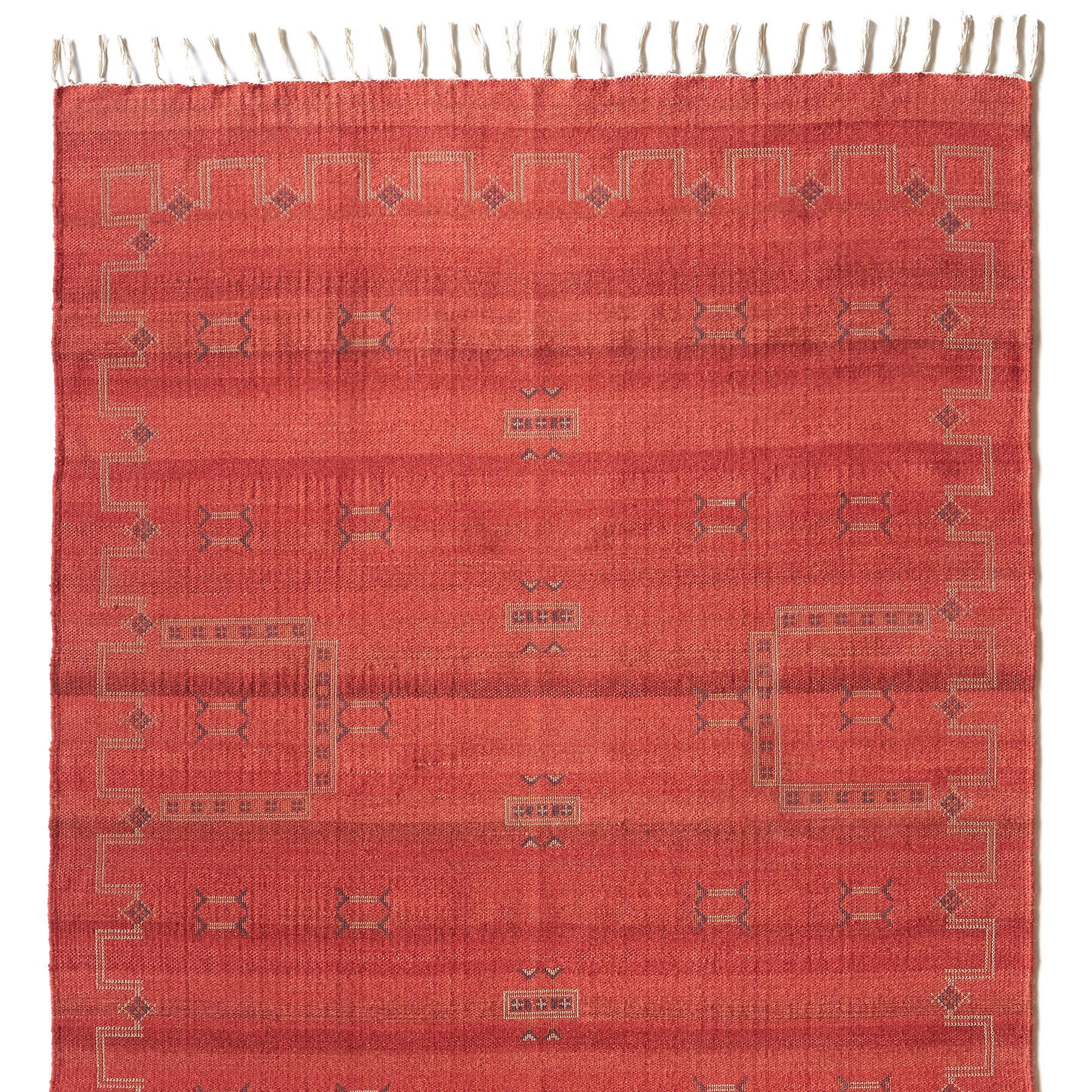 ALMERIA DHURRIE RUG, LARGE: View 1