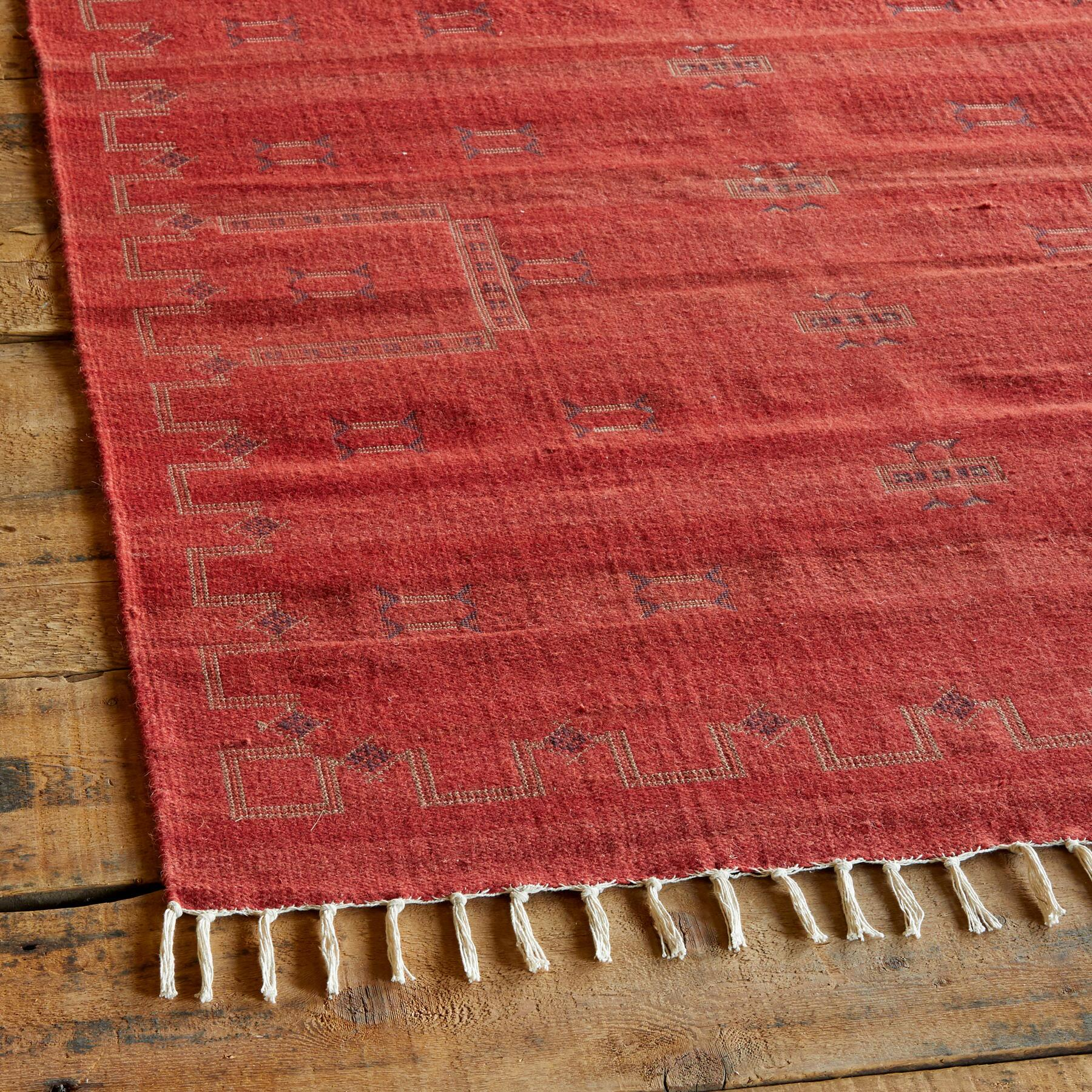 ALMERIA DHURRIE RUG, LARGE: View 2