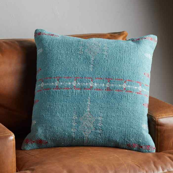 SUNSET RIDGE DEEP TEAL PILLOW