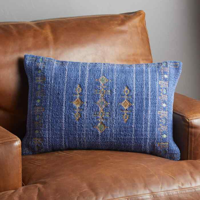 SUNSET RIDGE NAVY PILLOW