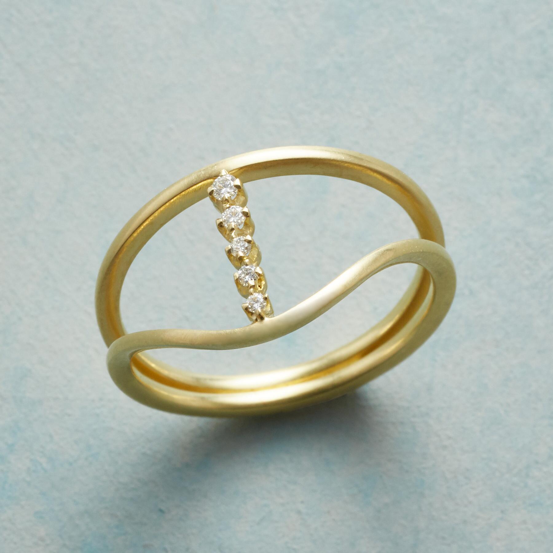 STARS ALIGNED DIAMOND RING: View 1