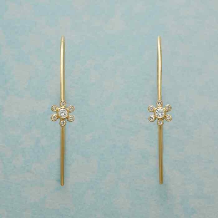 MARGUERITE DIAMOND HOOP EARRINGS