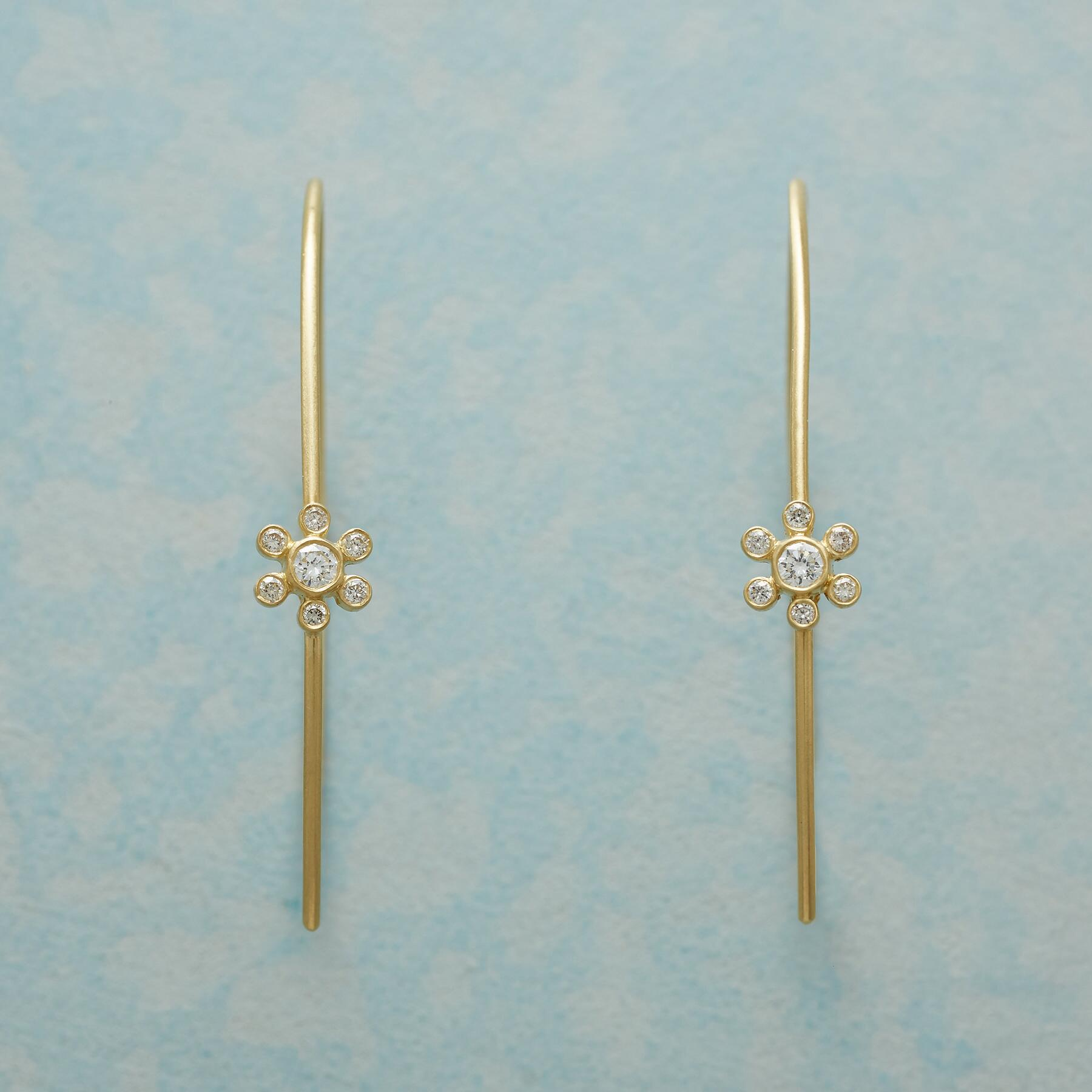MARGUERITE DIAMOND HOOP EARRINGS: View 1