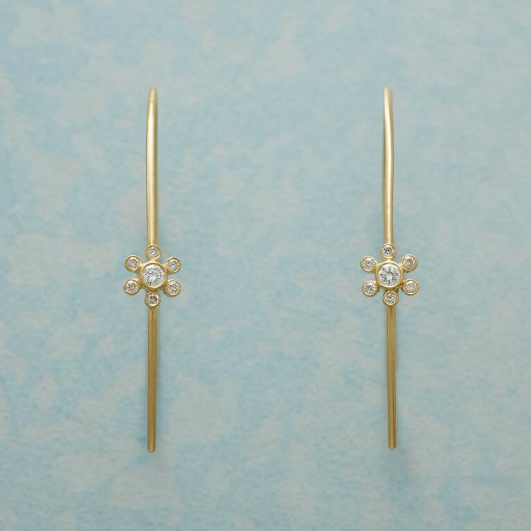 MARGUERITE DIAMOND HOOP EARRINGS