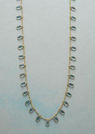 AQUA RAINDROP NECKLACE