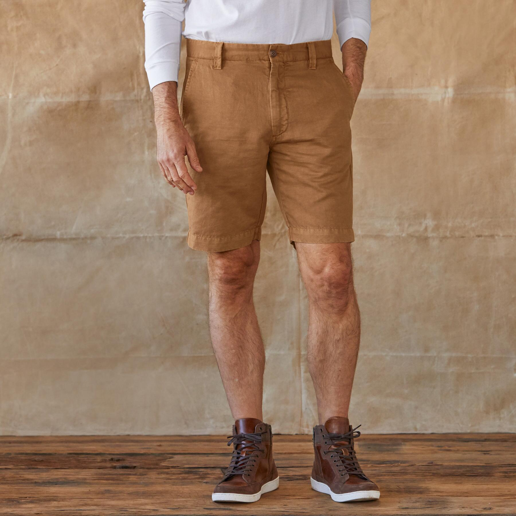 TATE LINEN SHORTS: View 1