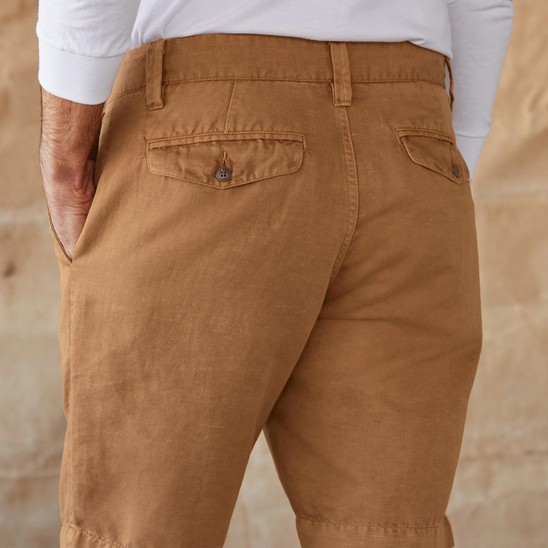 TATE LINEN SHORTS: View 4