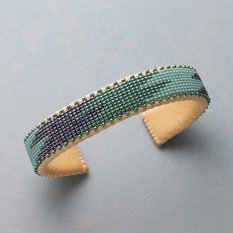 WAVES OF BLUE BEADED CUFF