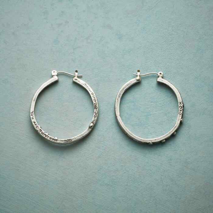 YOU ARE SUNSHINE HOOP EARRINGS
