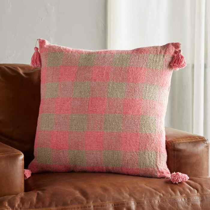 GLAD GINGHAM PILLOW