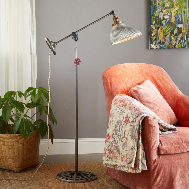 SILVER RUSH FLOOR LAMP