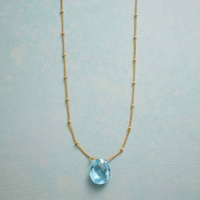 DROPLET OF BLUE NECKLACE