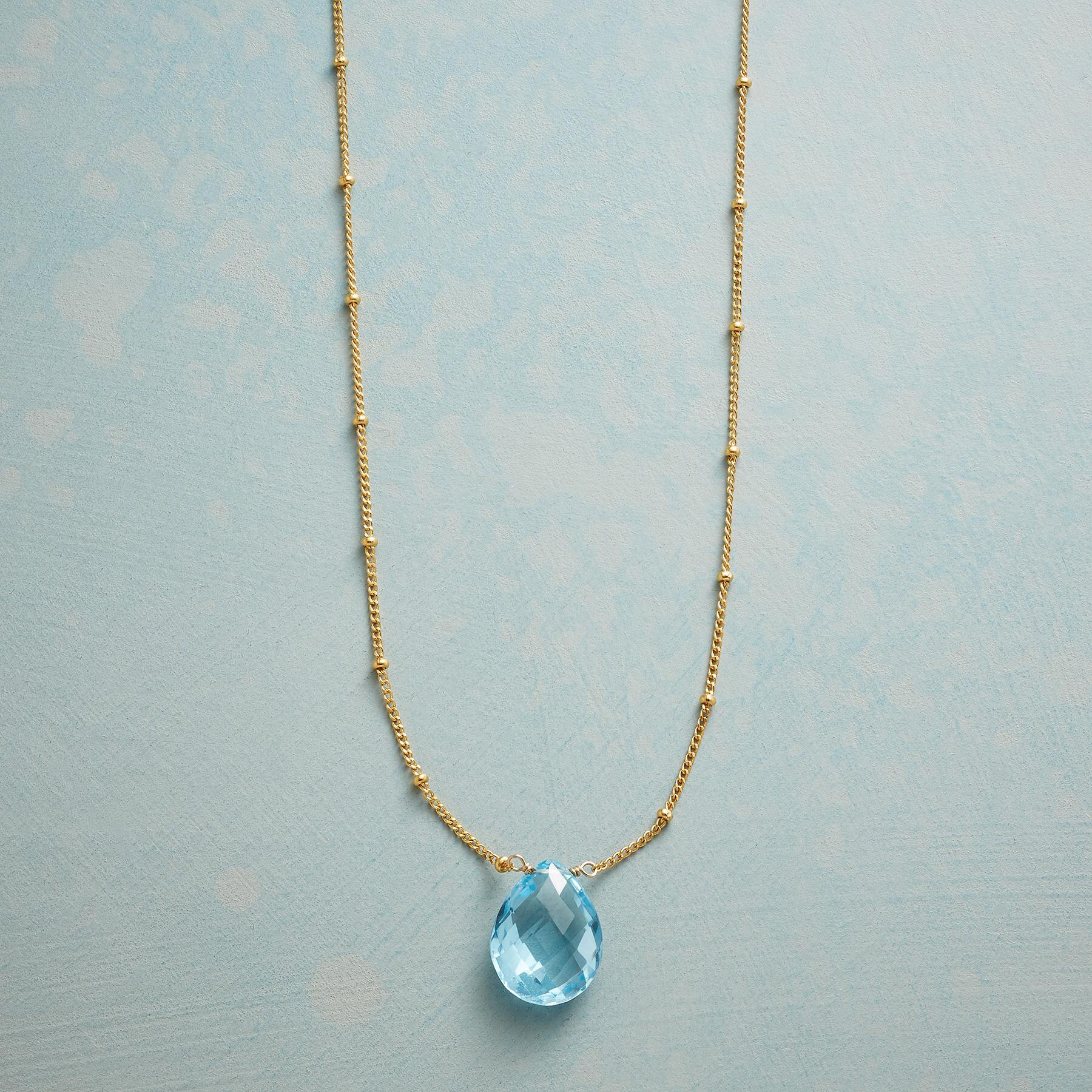 DROPLET OF BLUE NECKLACE: View 1