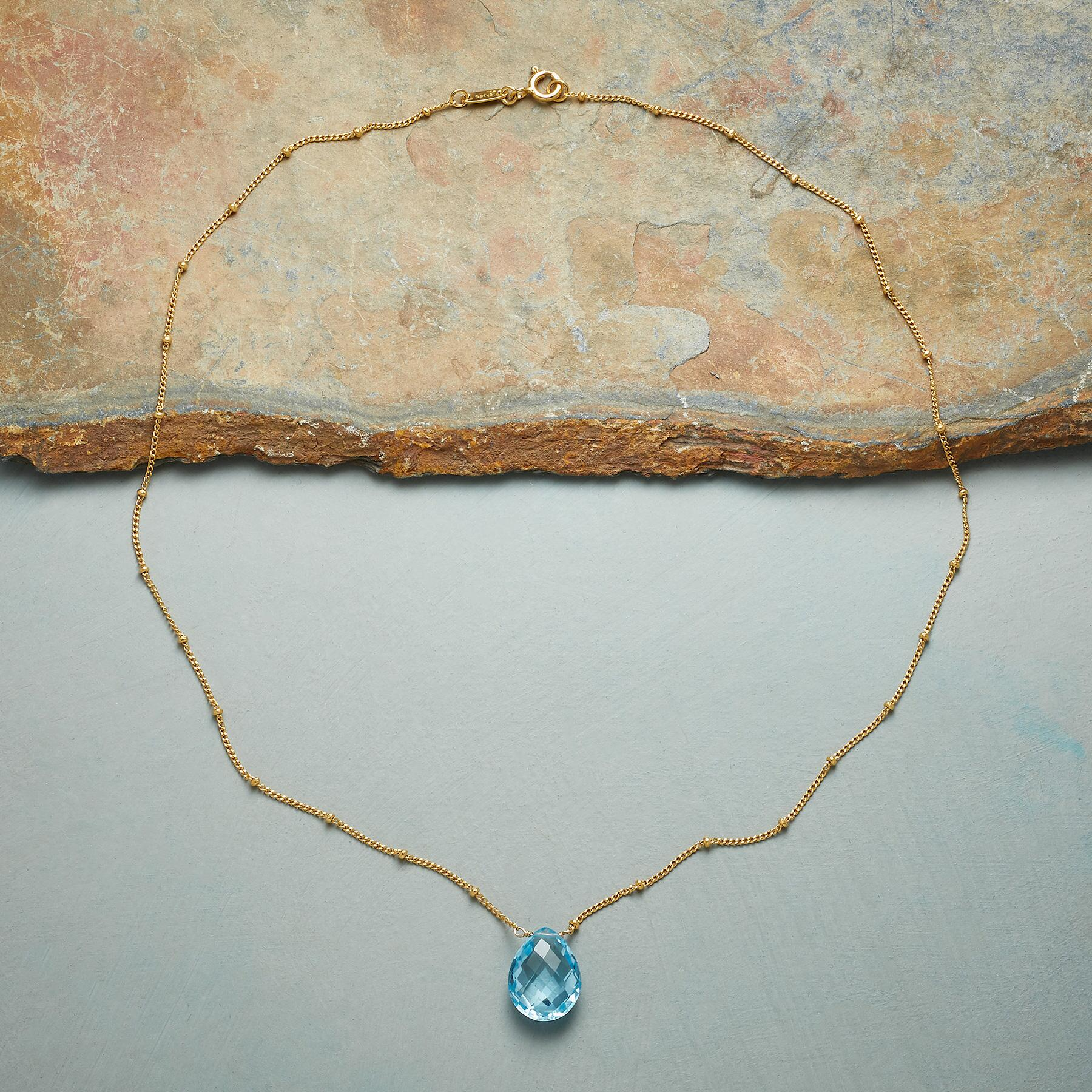 DROPLET OF BLUE NECKLACE: View 2