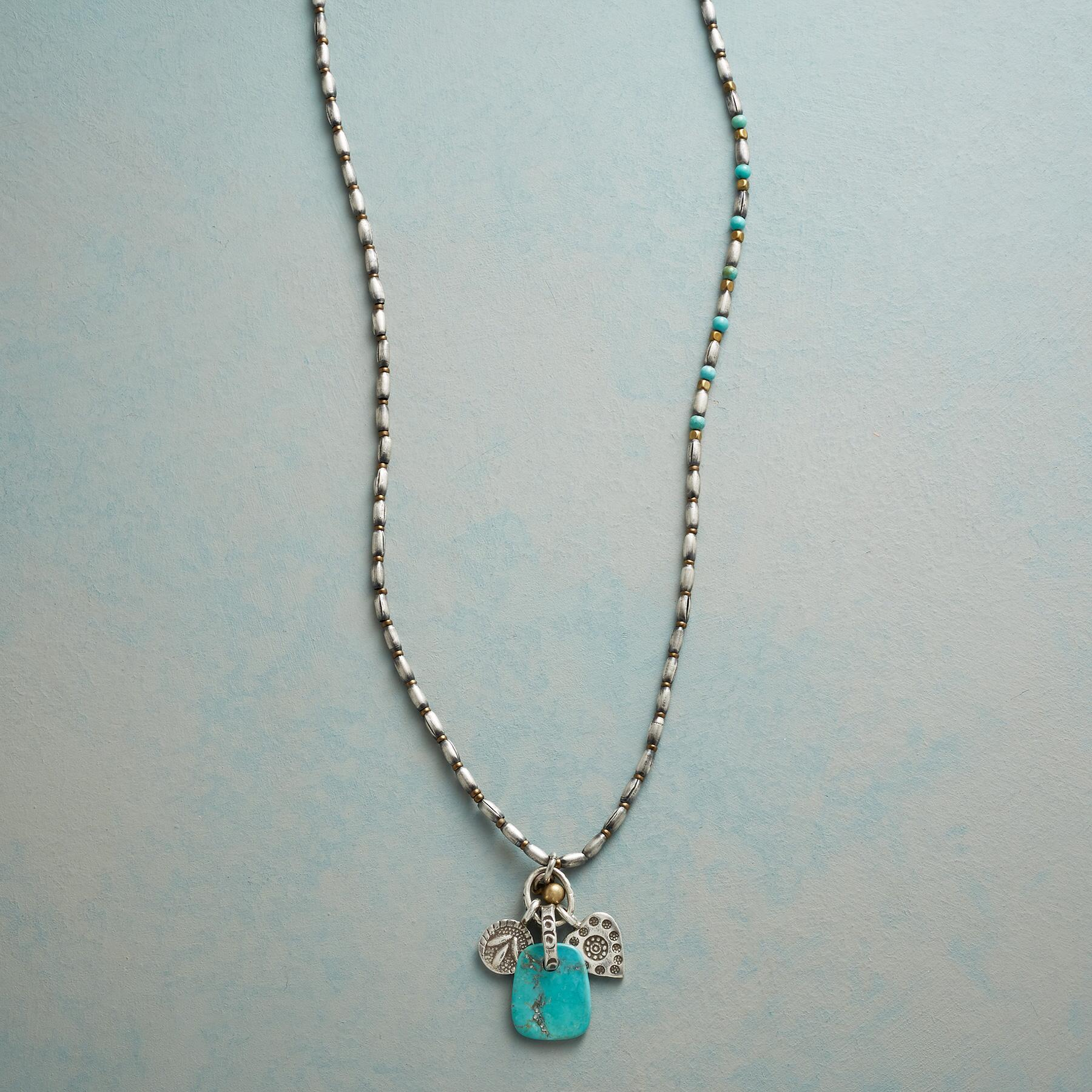 TURQUOISE TAB NECKLACE: View 1