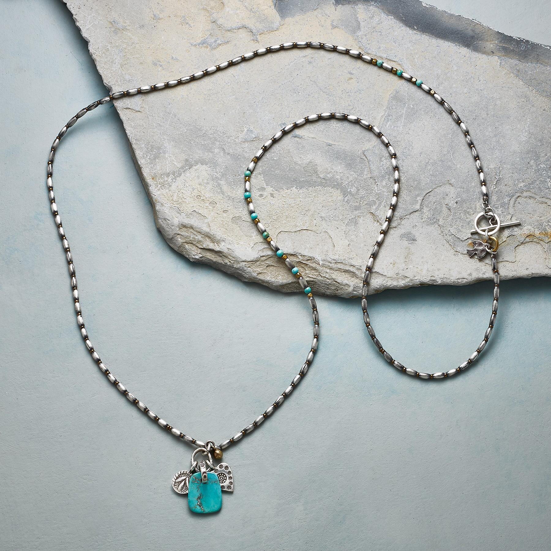 TURQUOISE TAB NECKLACE: View 2