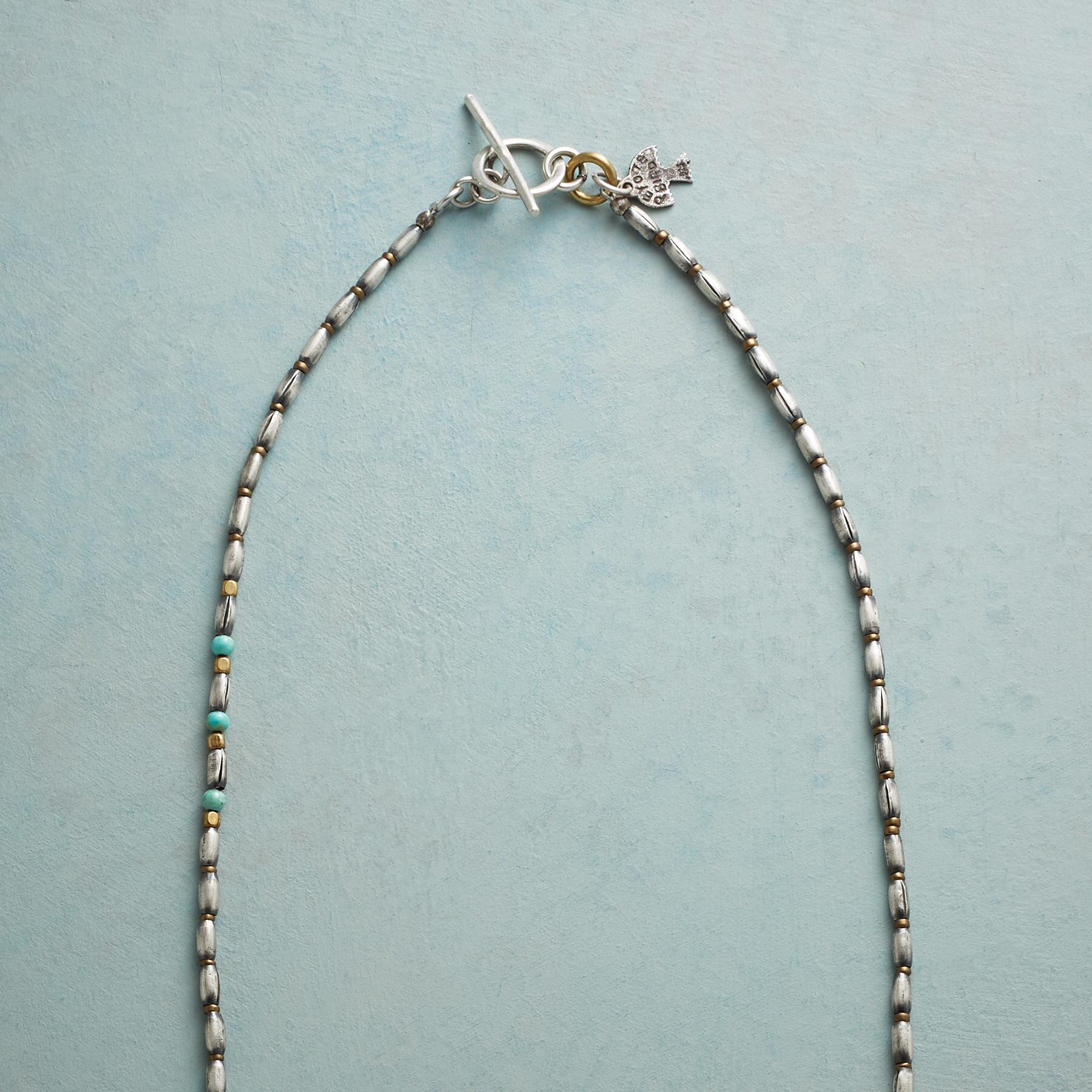 TURQUOISE TAB NECKLACE: View 3