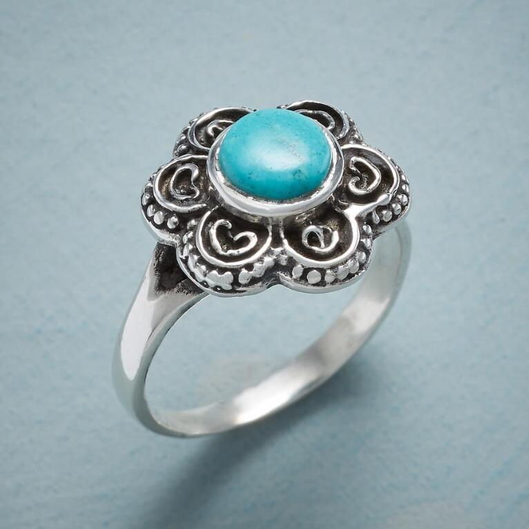 FLOWERING TURQUOISE RING