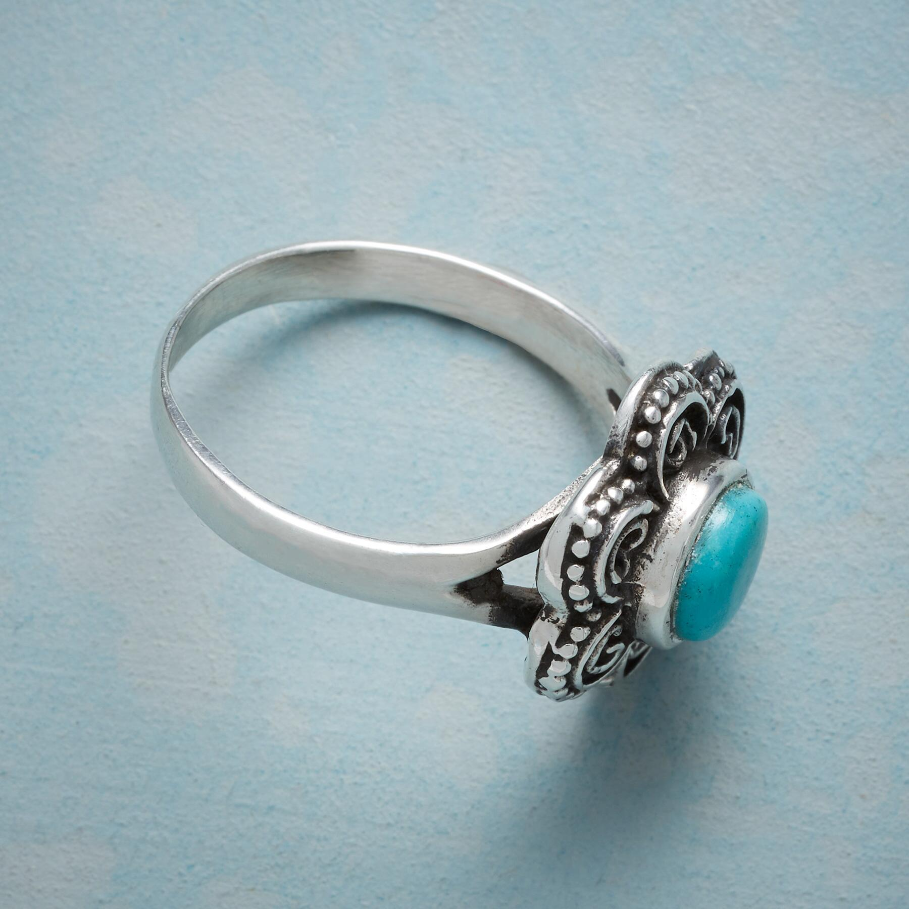 FLOWERING TURQUOISE RING: View 2