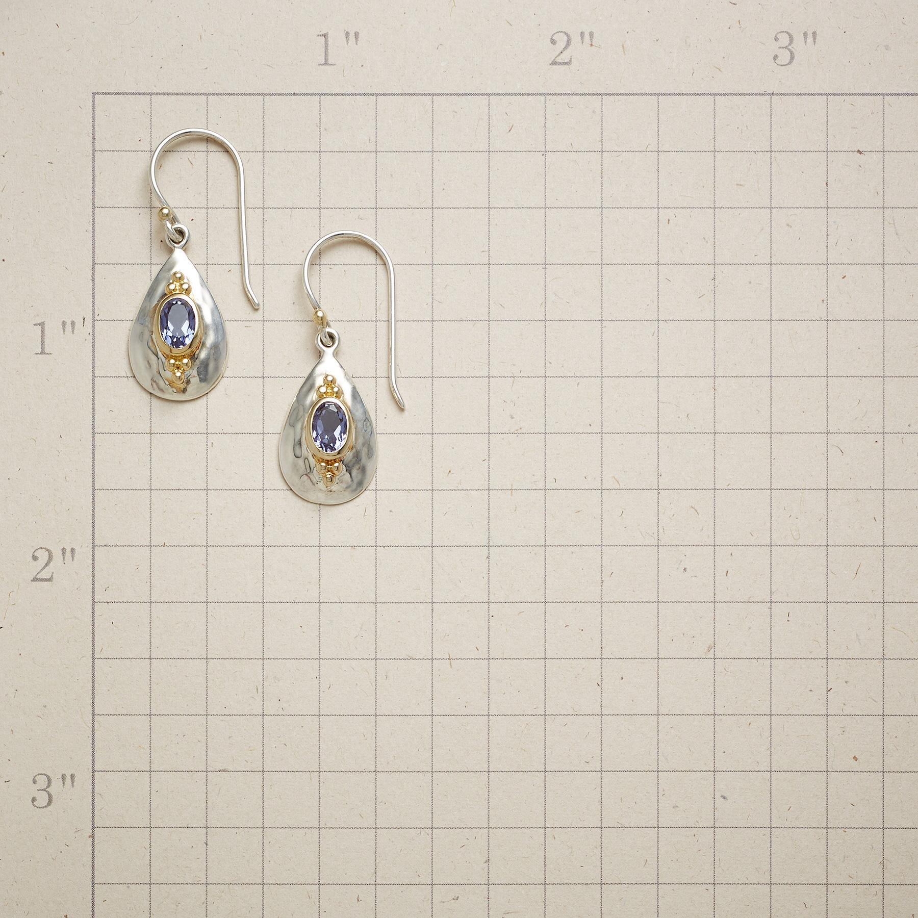 IOLITE TEARDROP EARRINGS: View 2