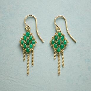 EMERALD TAPESTRY EARRINGS