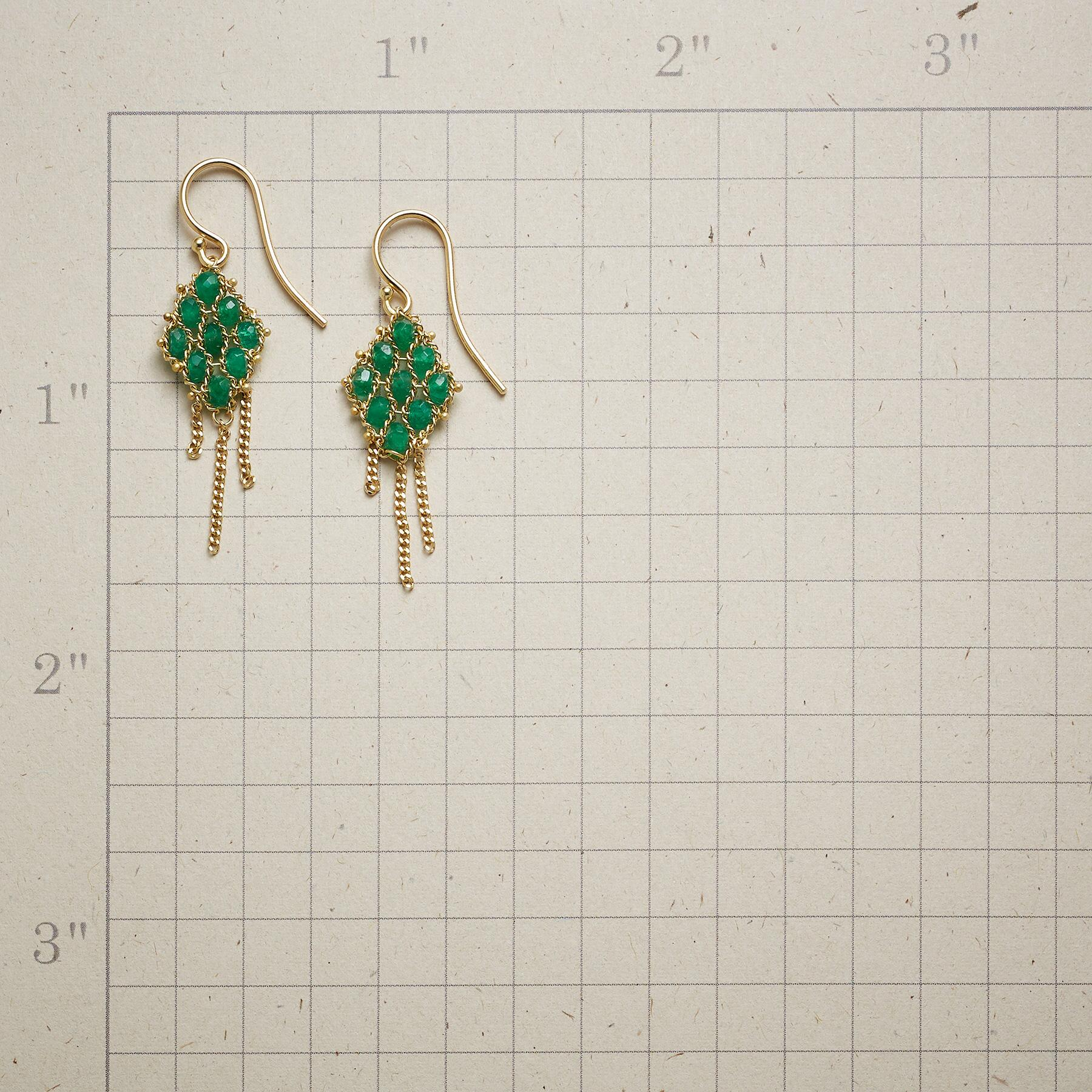 EMERALD TAPESTRY EARRINGS: View 2