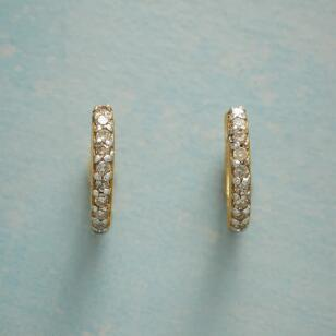 HUGGY DIAMOND HOOP EARRINGS