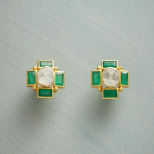 HERALDIC CROSS EARRINGS