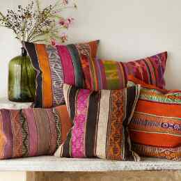 VINTAGE BOLIVIAN SQUARE PILLOW