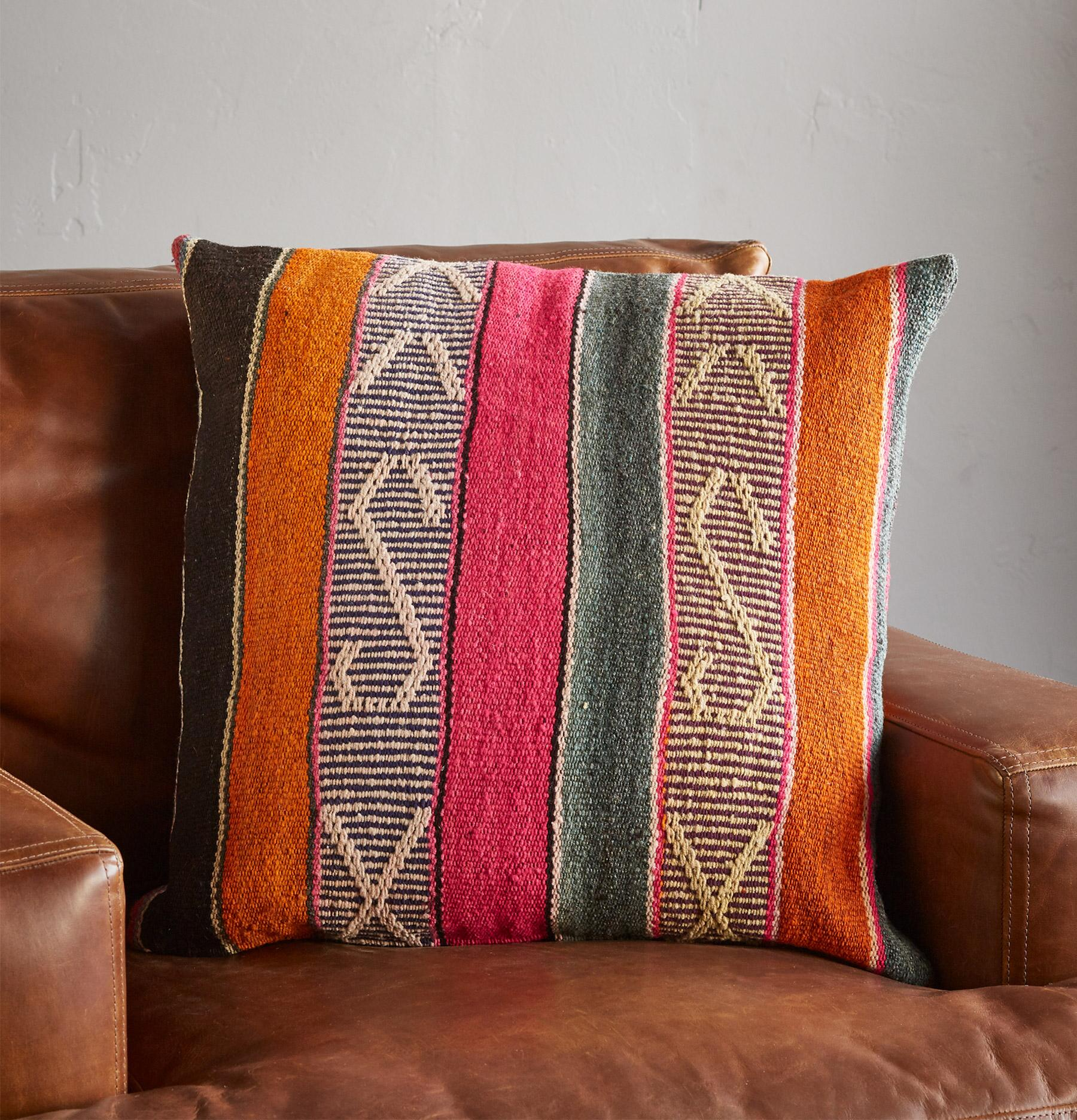 VINTAGE BOLIVIAN SQUARE PILLOW: View 2