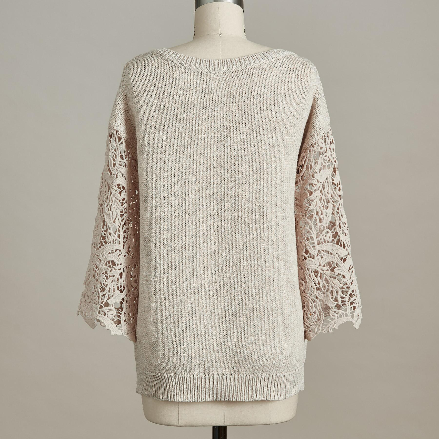 LACE DELIGHT PULLOVER - PETITES: View 2