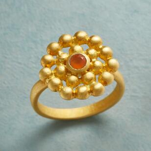 GOLDEN HOUR CARNELIAN RING