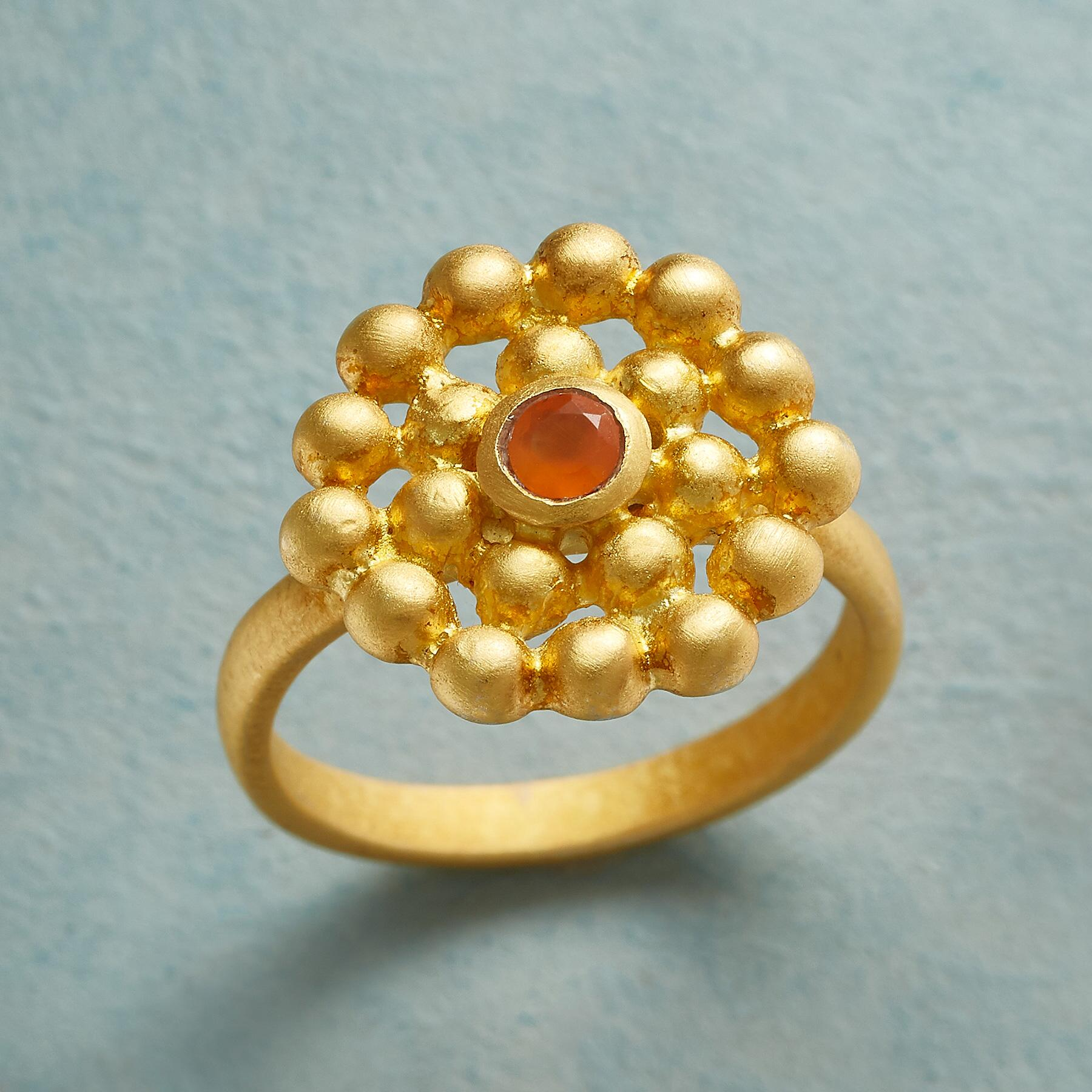GOLDEN HOUR CARNELIAN RING: View 1