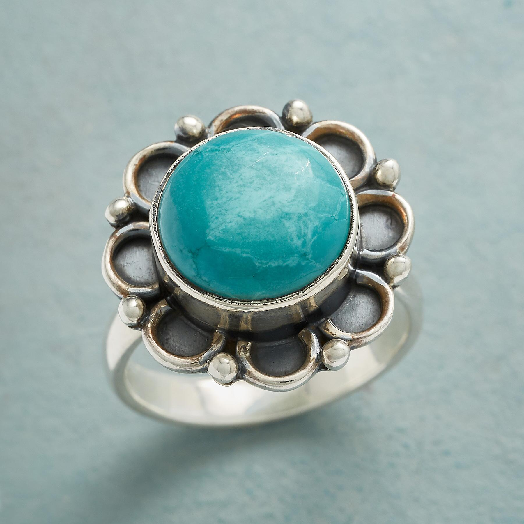 FLOWER POWER TURQUOISE RING: View 1