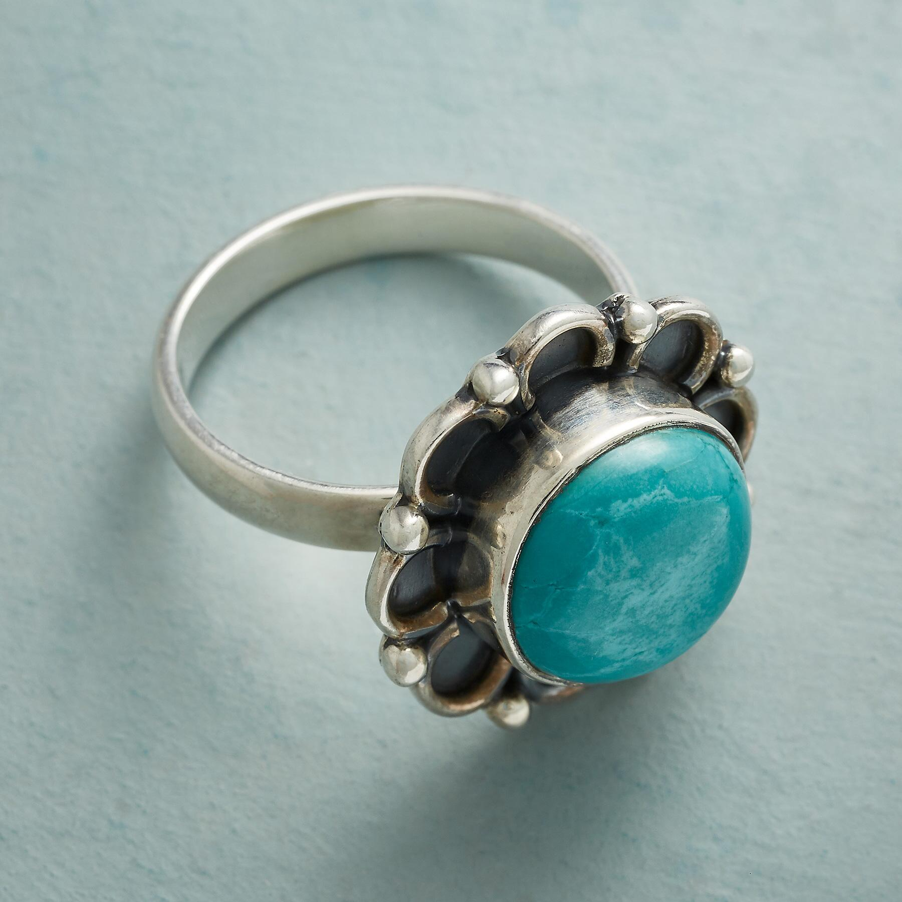 FLOWER POWER TURQUOISE RING: View 2