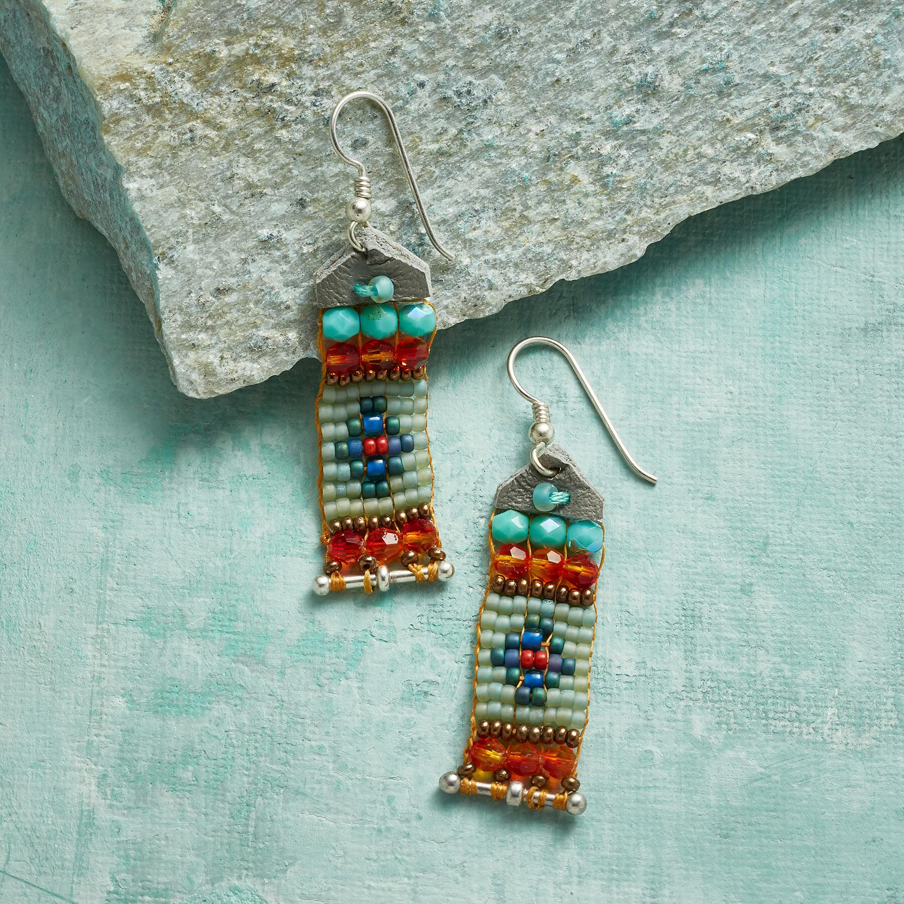 BANNER DAY BEADED EARRINGS: View 1